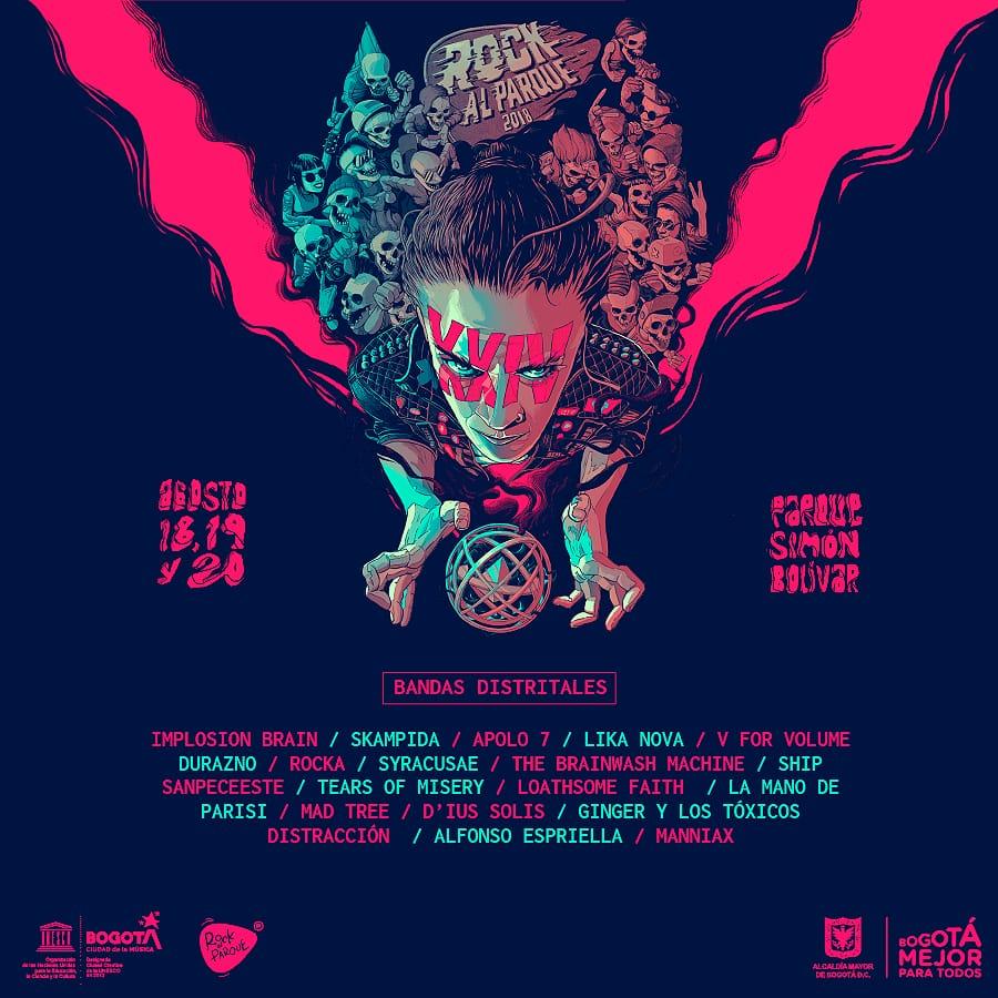 Escucha los 20 artistas distritales en Rock Al Parque 2018