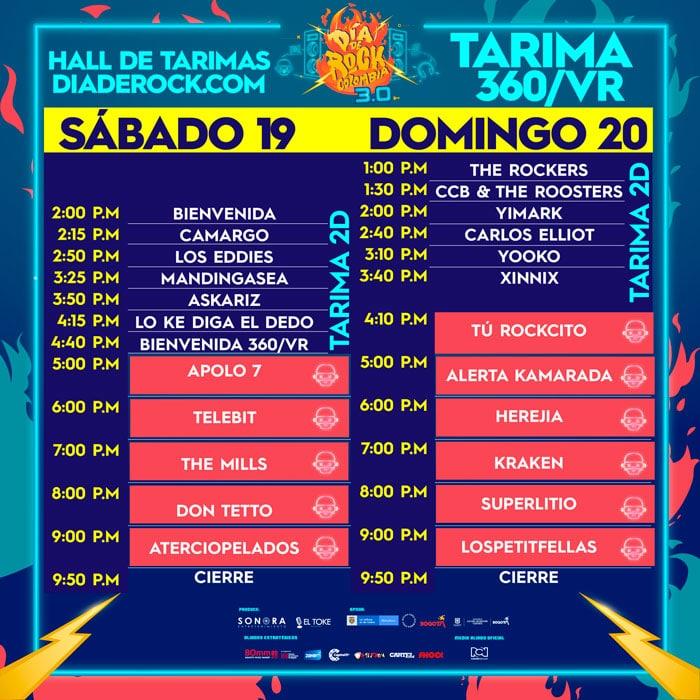 horario el dia del rock colombia 3
