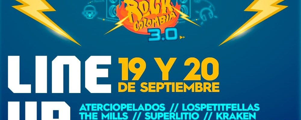 line up el dia del rock colombia 3.0